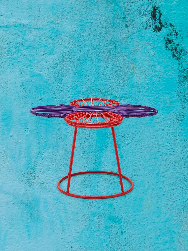 Marni MARNI MARKET red and purple table in metal  Man - 1