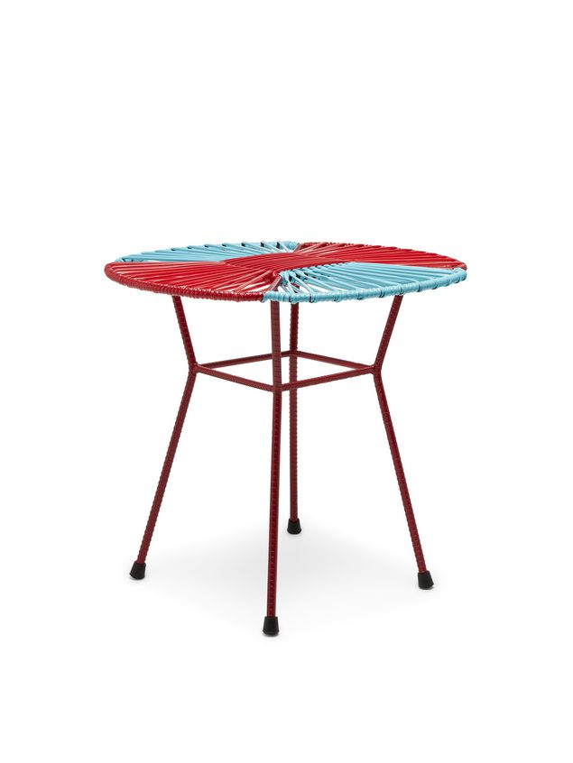 Marni MARNI MARKET red, pale, blue and burgundy table in iron  Man - 2