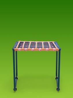 Marni MARNI MARKET black, blue, orange, green and pink table in metal  Man