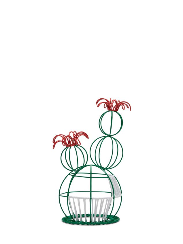 Marni MARNI MARKET cactus sculpture with 2 flowers & green and white base Man - 2