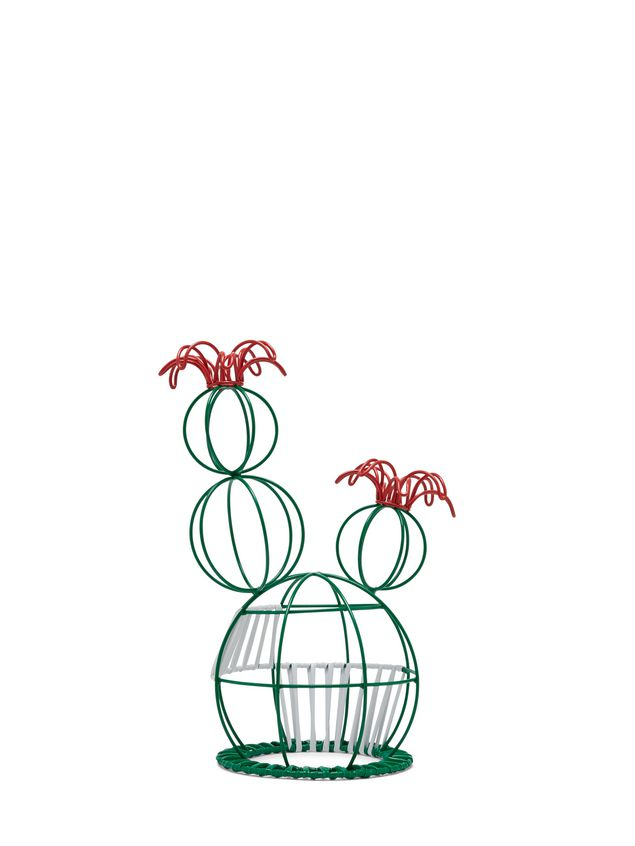Marni MARNI MARKET cactus sculpture with 2 flowers & green and white base Man - 3