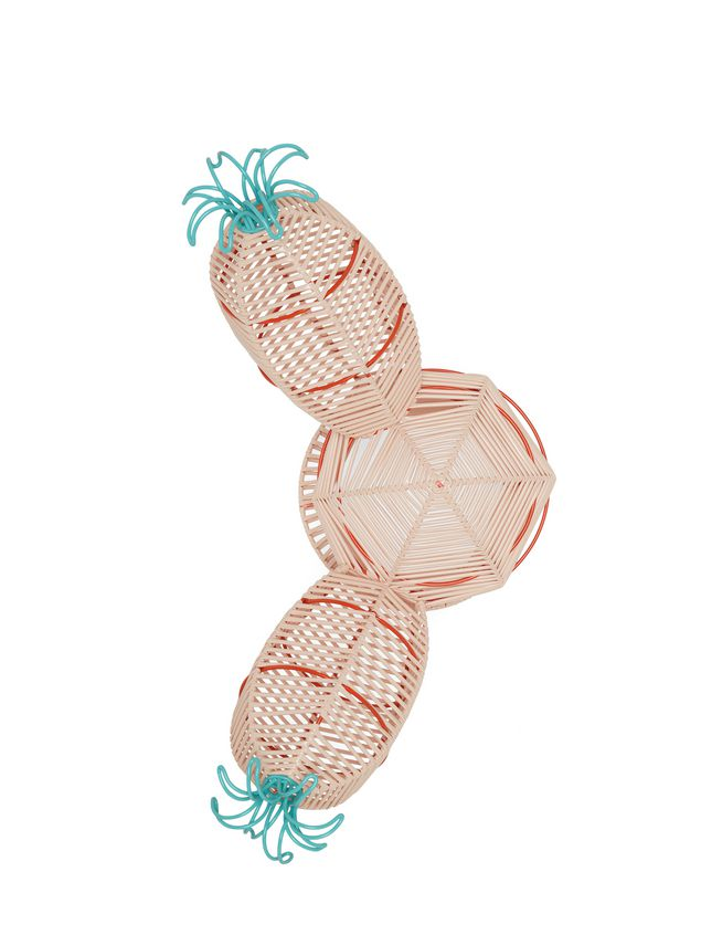 Marni MARNI MARKET cactus sculpture with 2 branches and 2 pale blue flowers Man - 4