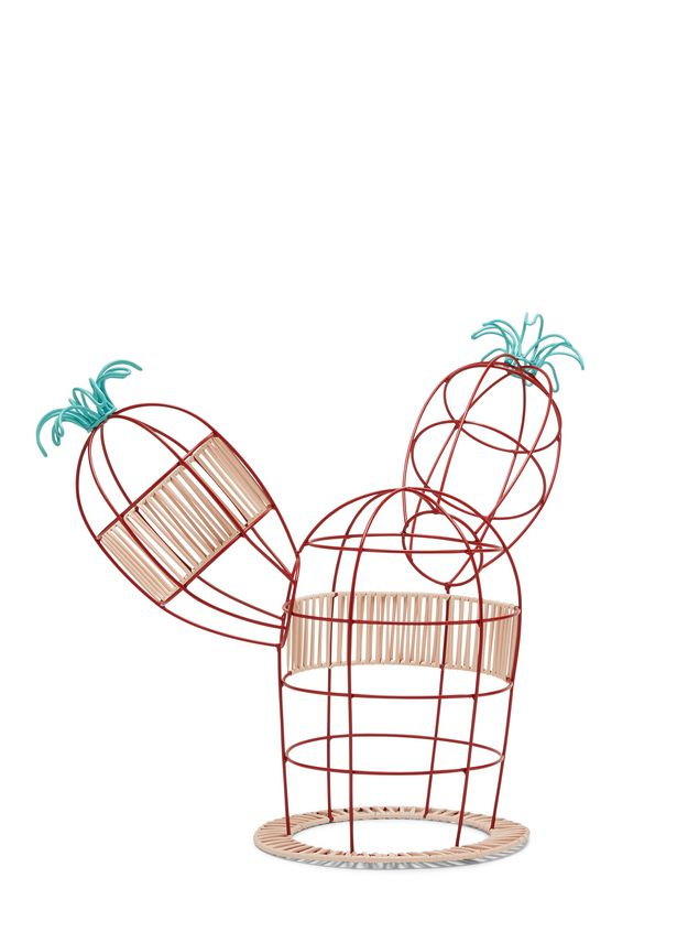 Marni MARNI MARKET cactus sculpture with 2 branches 2 flowers & beige and red base Man - 2