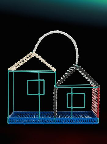 Marni MARNI MARKET double house sculpture in metal with black bottom Man