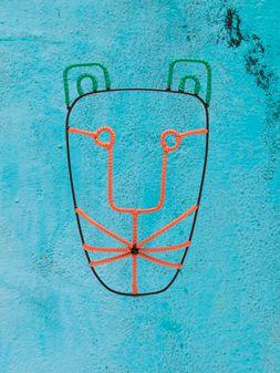 Marni MARNI MARKET tiger-head mask in metal Man