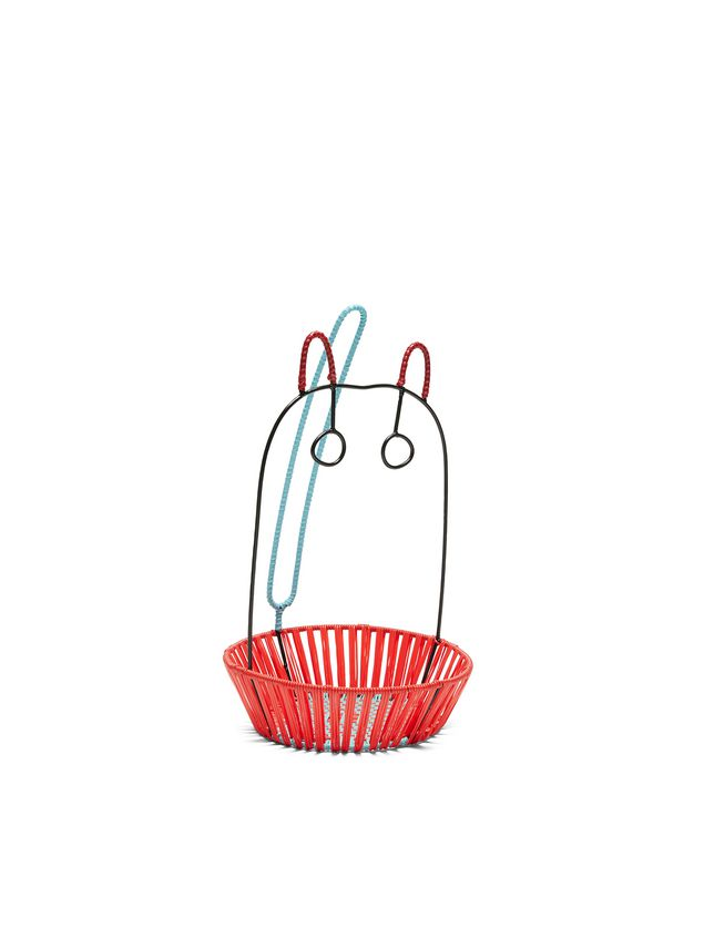 Marni MARNI MARKET basket in metal with red base Man - 2