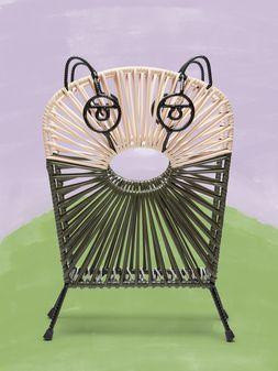 Marni MARNI MARKET green and white cat magazine rack in iron  Man
