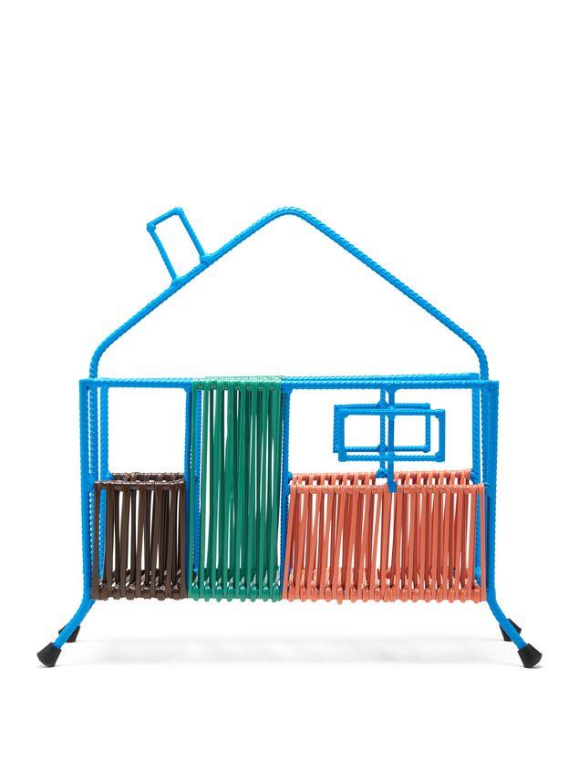 Marni MARNI MARKET blue, orange, green and brown house magazine rack in iron  Man