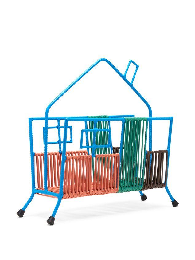 Marni MARNI MARKET blue, orange, green and brown house magazine rack in iron  Man - 2