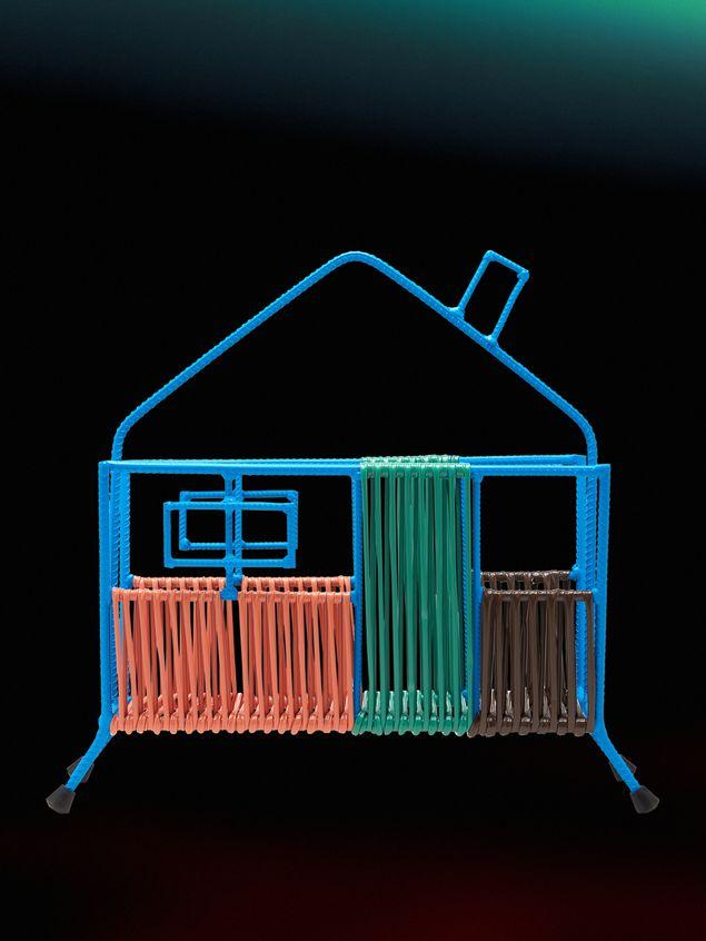 Marni MARNI MARKET blue, orange, green and brown house magazine rack in iron  Man - 1