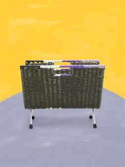 Marni MARNI MARKET green, black, white and purple magazine rack in PVC  Man