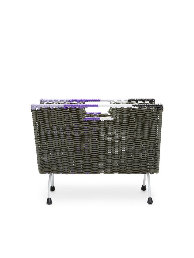 Marni MARNI MARKET green, black, white and purple magazine rack in PVC  Man