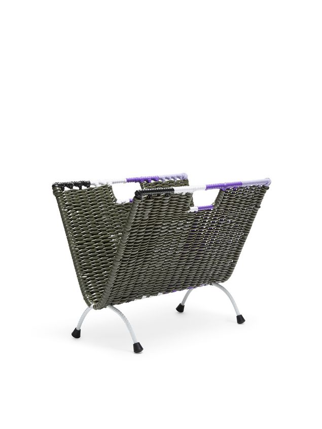 Marni MARNI MARKET green, black, white and purple magazine rack in PVC  Man - 2