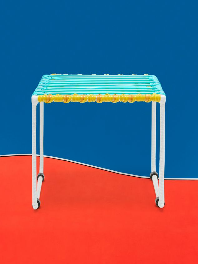 Marni MARNI MARKET pale blue, yellow and white table in metal  Man - 1
