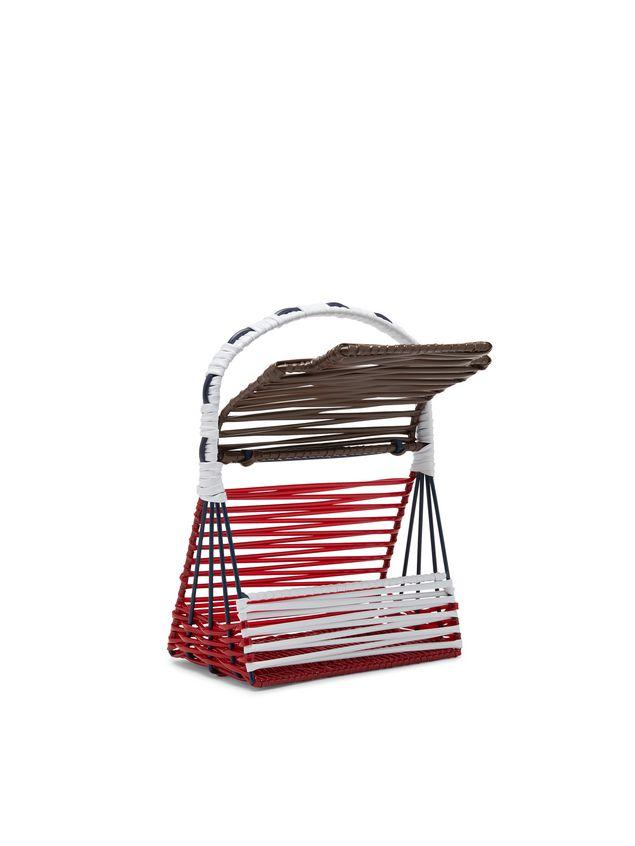 Marni MARNI MARKET TRUNK bag sculpture with brown flap Man - 4