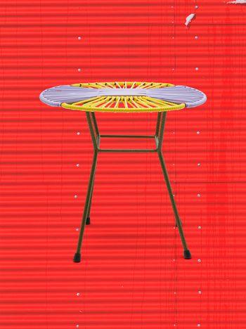 Marni MARNI MARKET yellow, lilac and green table in iron  Man f