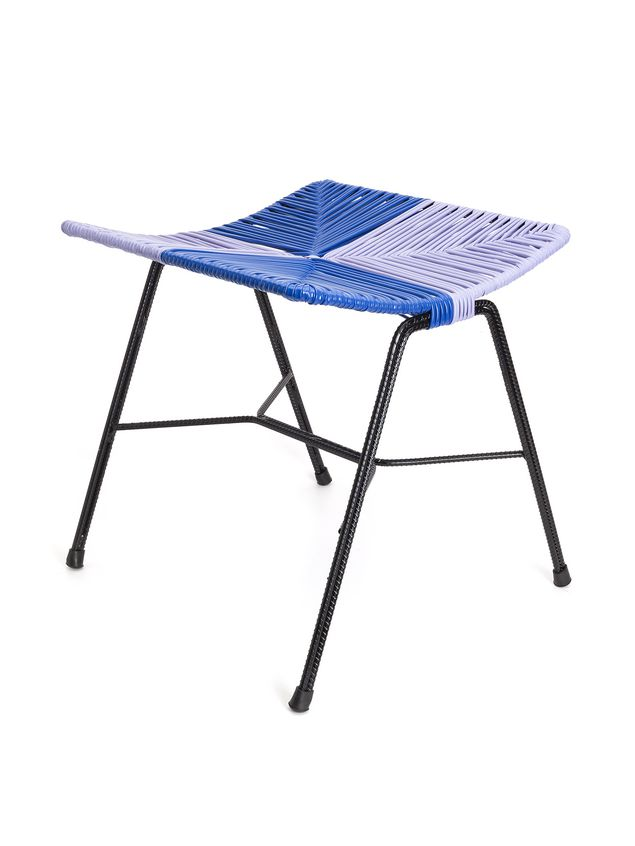 Marni MARNI MARKET stool in blue and violet metal with rectangular seat  Man - 2