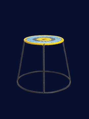 Marni MARNI MARKET stool in metal with multicolored circular seat Man