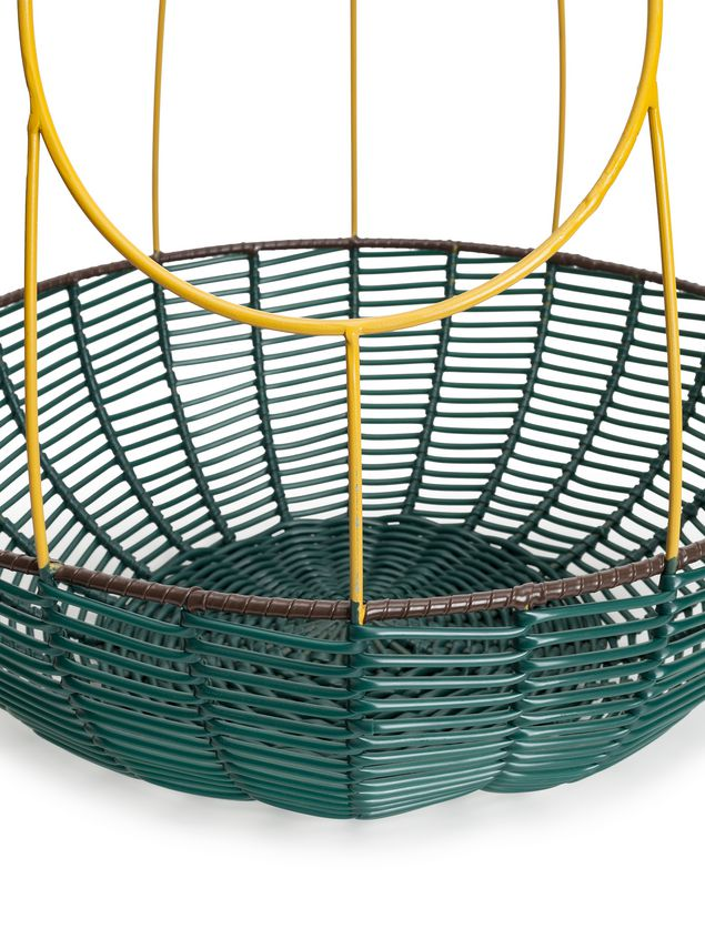 Marni MARNI MARKET guanabana-shaped fruit bowl in yellow, green and brown metal Man - 3