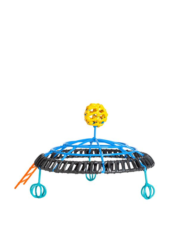 Marni MARNI MARKET UFO-shaped sculpture in iron and PVC in orange, yellow, black and blue Man - 2