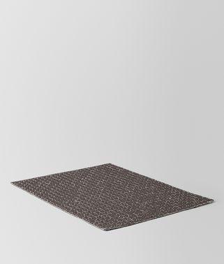 黑炭灰INTRECCIATO编织亚麻餐垫