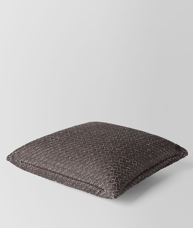 BOTTEGA VENETA CARBONE INTRECCIATO LINEN SQUARE PILLOW Pillow E fp