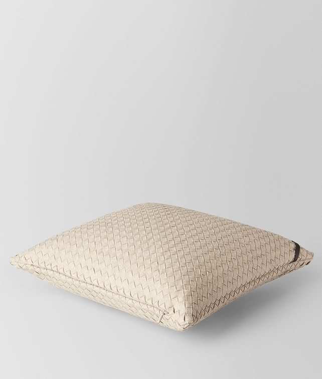 BOTTEGA VENETA PALLADIO INTRECCIATO LINEN SQUARE PILLOW Pillow E fp