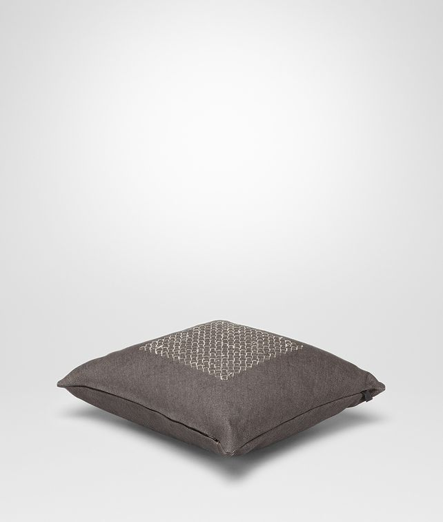 BOTTEGA VENETA Carbone Linen Pillow Pillow and blanket E fp