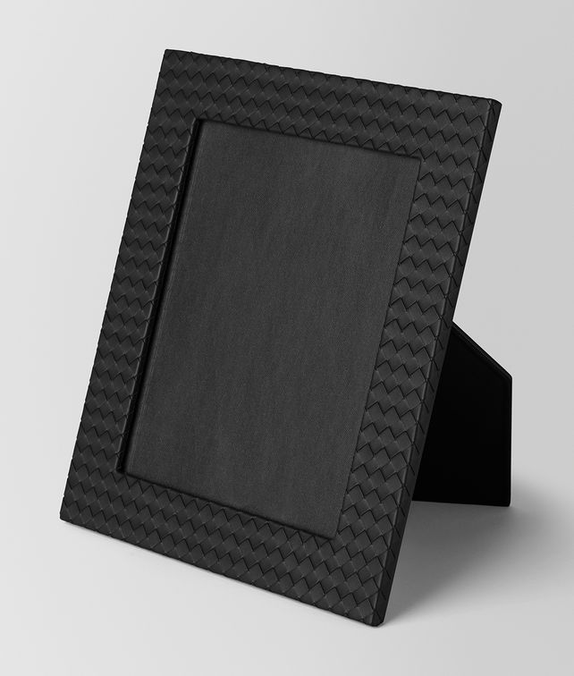 BOTTEGA VENETA LARGE PHOTO FRAME IN NERO INTRECCIATO NAPPA Photo frame E fp