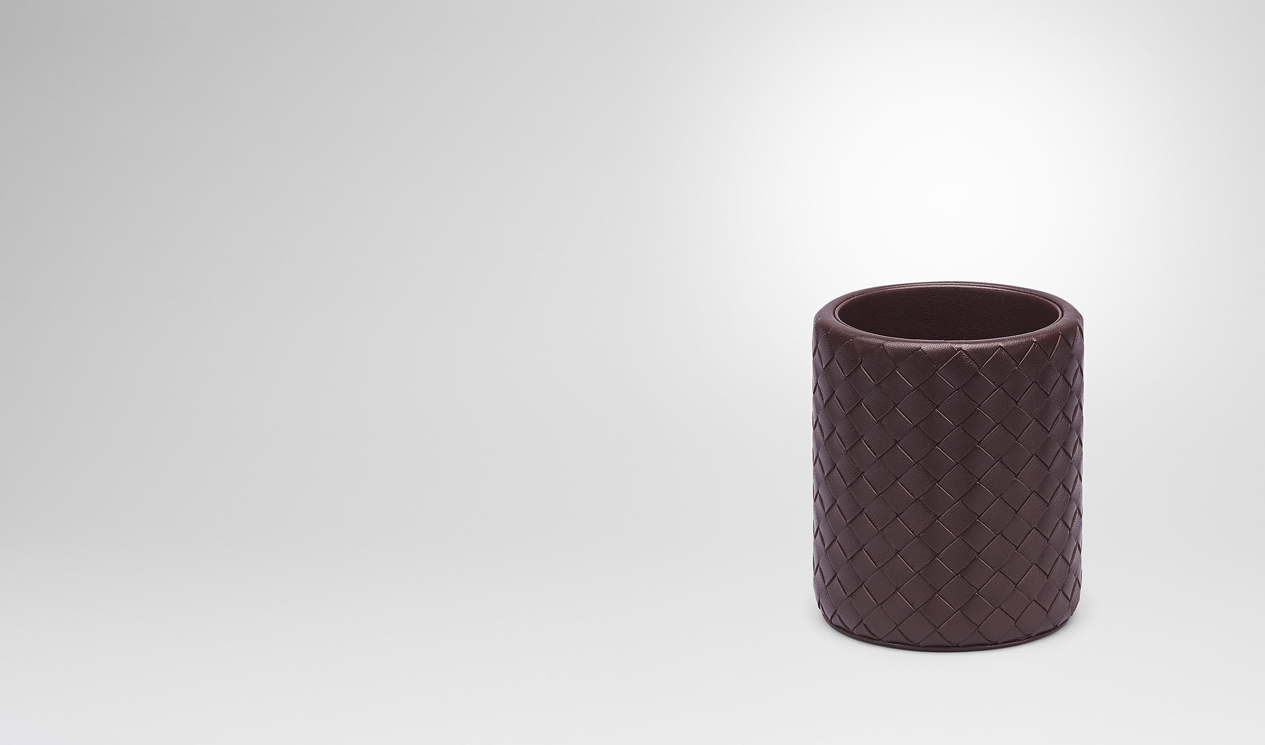BOTTEGA VENETA Desk accessory E Ebano Intrecciato Nappa Pencil Holder pl