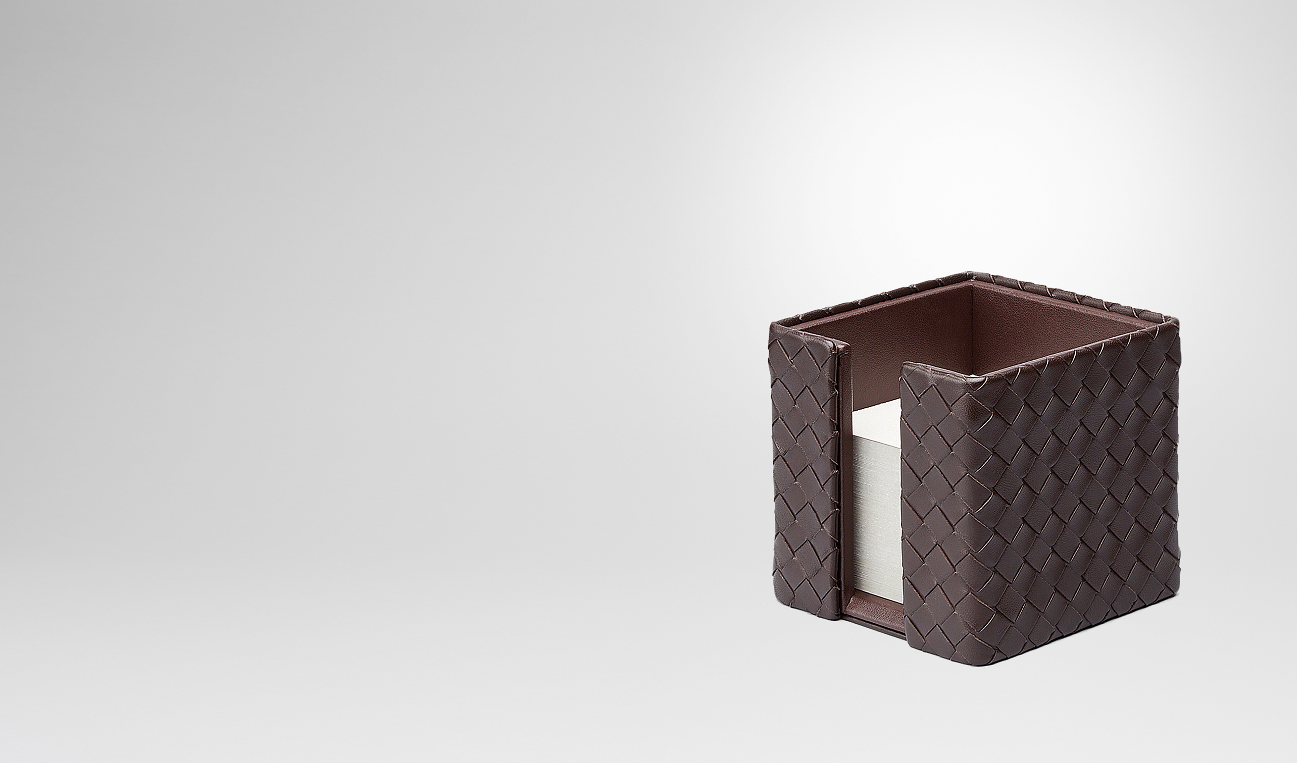 BOTTEGA VENETA Desk accessory E Ebano Intrecciato Nappa Memo Paper Holder pl