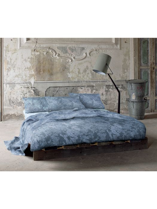LIVING DENIM FLORA DUVET COVER SET 250x200 Bed U e