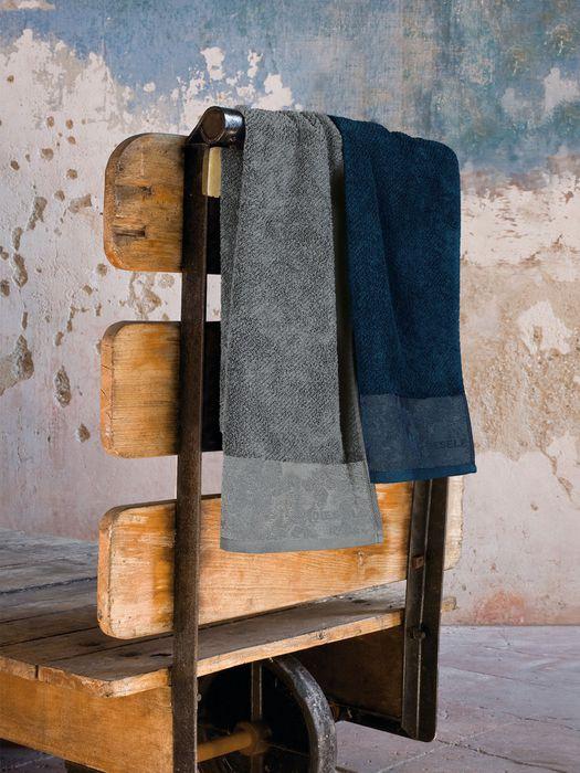 LIVING DENIM FLORA SOLID TOWEL 50X100 Bath U e