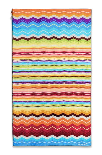 MISSONI HOME HUGO BEACH TOWEL Turquoise E - Back