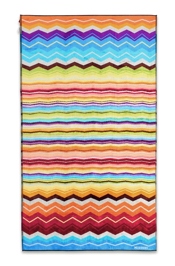 MISSONI HOME HUGO BEACH TOWEL E, Frontal view