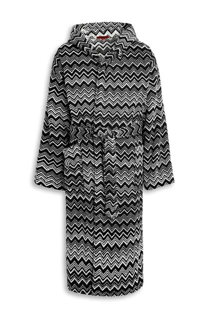 MISSONI HOME KEITH HOODED BATHROBE Black E - Back