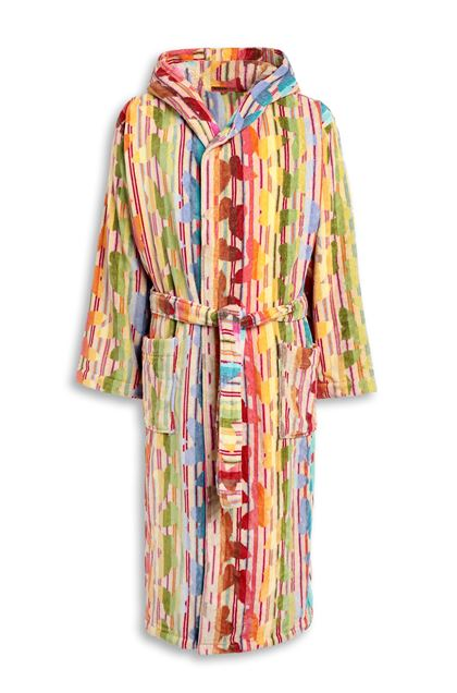 MISSONI HOME JOSEPHINE HOODED BATHROBE Fuchsia E - Back