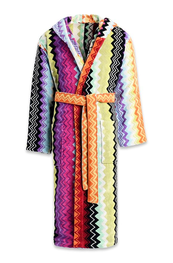 MISSONI HOME GIACOMO HOODED BATHROBE E, Frontal view