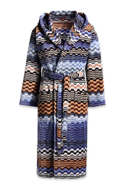 MISSONI HOME LARA HOODED BATHROBE Blue E - Back