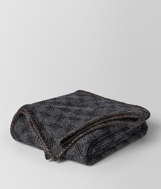 Anthracite Black Wool Blanket