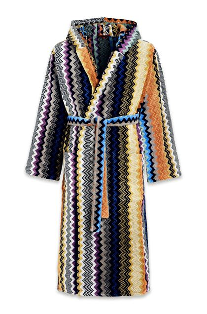 MISSONI HOME SETH HOODED BATHROBE Black E - Back