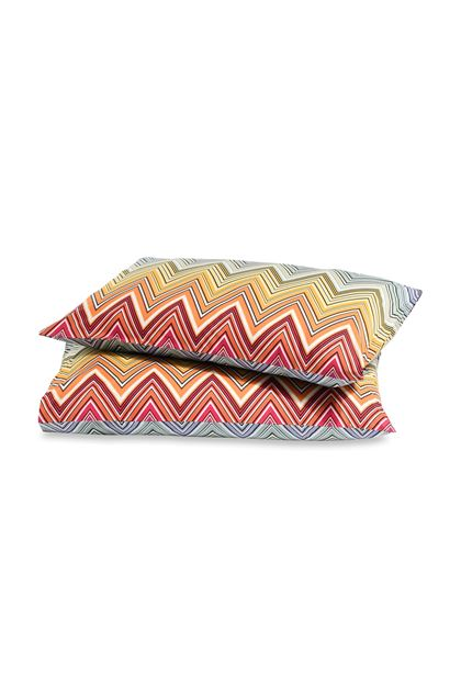 MISSONI HOME TREVOR PILLOWCASES 2-PIECE SET Orange E - Back