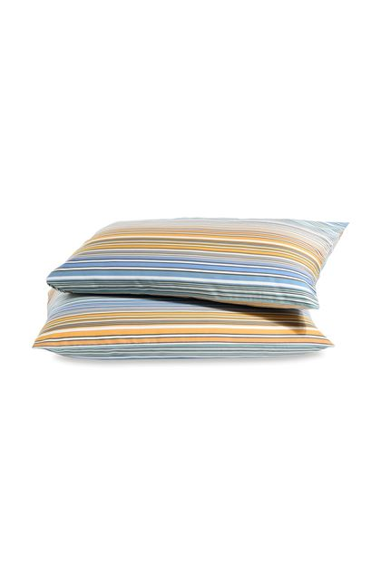 MISSONI HOME TIBAULT PILLOWCASES 2-PIECE SET Pastel blue E - Back