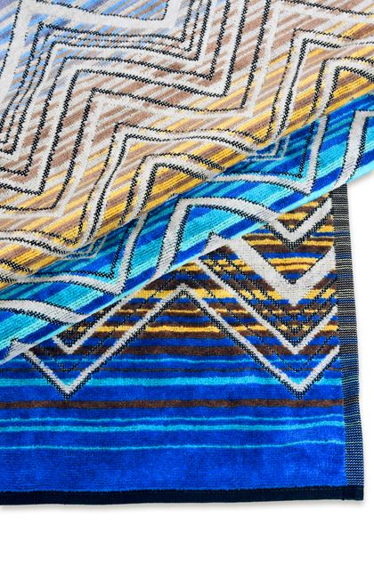 MISSONI HOME TOLOMEO TOWEL Blue E - Front