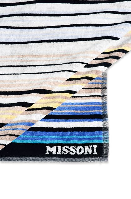 MISSONI HOME TABATA BEACH TOWEL Sky blue E - Front