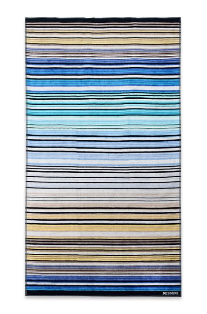 MISSONI HOME TABATA BEACH TOWEL Sky blue E - Back