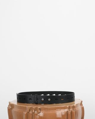 Marcia Smooth leather perforated belt
