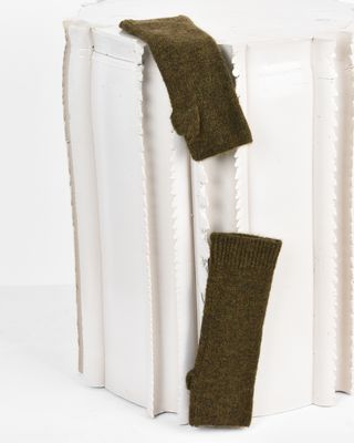 Cruz Alpaca and wool-blend mittens
