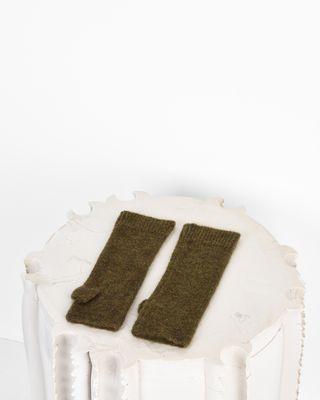 ISABEL MARANT GLOVE D Cruz Alpaca and wool-blend mittens r