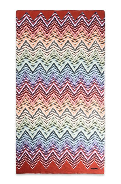 Missoni Home Telemaco Beach Towel Light Green E Back